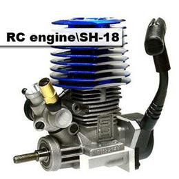 Wholesale Engine Rc Nitro - Wholesale-2PCS RC 1 10 SH-18 RC Nitro Side Engine for Car Buggy Truck Remote Parts Black & Blue