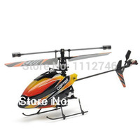 Wholesale V911 Rc Helicopter - Wholesale-Genuine wltoys V911 remote control mini RC helicopter 2.4Ghz 4 channel orange and black color. BNF