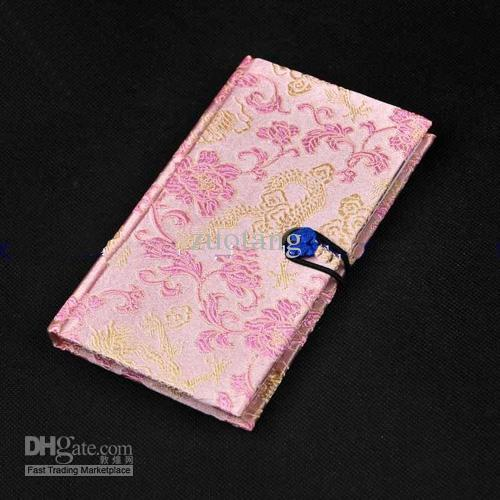 Il colore di seta stampato / del tessuto di seta di stile cinese dei regali di favore del taccuino del diario hardcover del diario di modo libera il trasporto