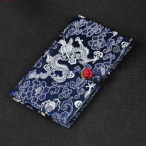 Мода роскошный Твердый переплет Дневник ноутбук пользу подарки китайский стиль шелковой ткани печатных 15 шт. / лот цвет смешивания бесплатная доставка