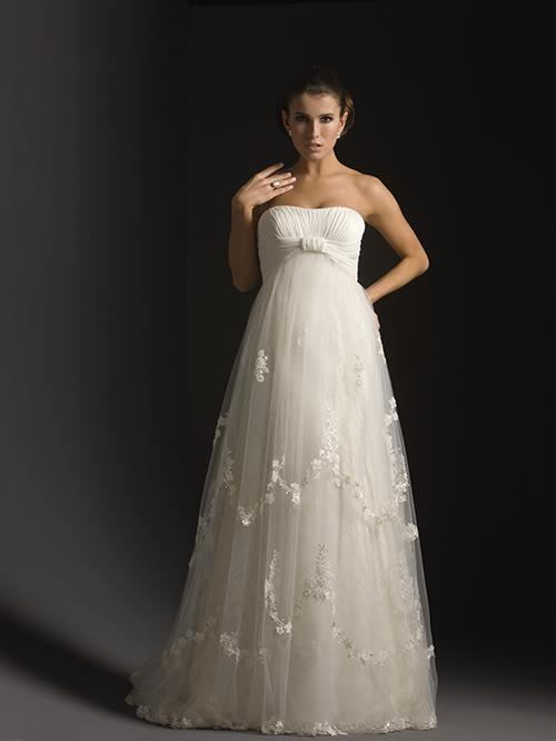 See larger imageCustom Sexy A Line Floor Length Organza Maternity Wedding Dress  . Plus Size Maternity Wedding Dresses. Home Design Ideas