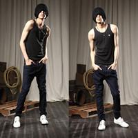 Wholesale Korean Pants For Mens - Wholesale-2015 Winter famous brand mens jeans pants , fashion designer brands jeans men,Blue denim Korean Slim jeans for men