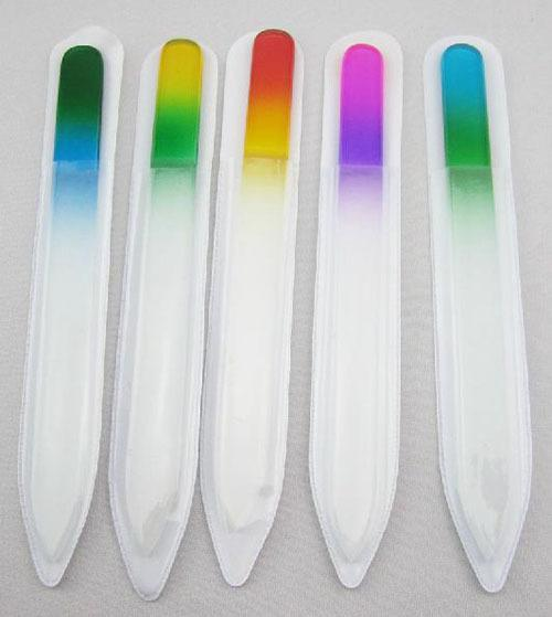 Whole ale 20pc durable gla nail file cry tal nail buffer art care different gradient color care 5 5 quot 5 1 2 39 39 free