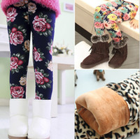 Wholesale Thick Kids Leggings For Winter - Wholesale-2015 Autumn Winter New Fashion Baby gilr leggings Children warm leggings kids thick winter leggings pants for girls 2-8 year old