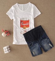 Wholesale Maternity jeans Prop Belly Pants Maternity Wear Pregnant Women Fashion Denim shorts piece