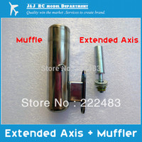 Wholesale Engine Methanol - Wholesale-15 Class Methanol Engine Exhaust Pipe Muffler and Extended axis ,15 Methanol engine Application Specific