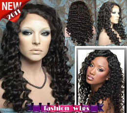 "XCSUNNY New Celebrity Hairstyle 16 ""-26"" Deep Wave # 1B Parrucche frontali con pizzo caldo CHS097"