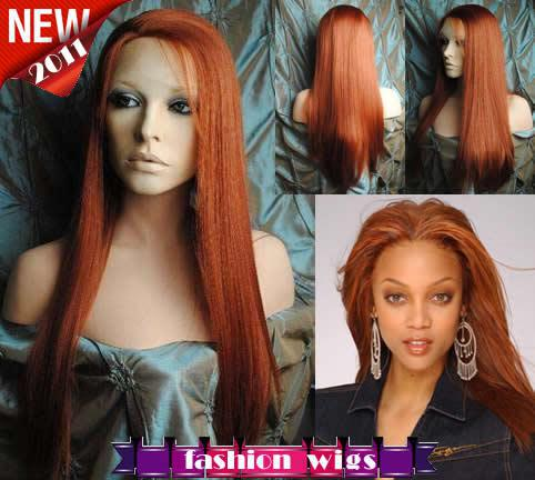 """New Celebrity Hairstyle 14""""-26"""" Straight #350 Heat Friendly Synthetic Lace Front Wigs CHS104"""