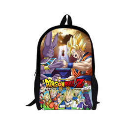 Wholesale Black Anime Characters - Wholesale-Japanese anime Dragon ball Z cartoon schoolbags how to train your dragon bags boys style cool backpack for children 3D character