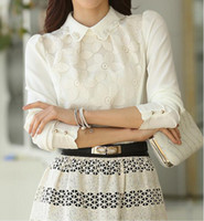 Wholesale Ladies Blouses For Spring - Wholesale-2015 Spring New Blouses&Shirts Women Clothing Tops For Women Chiffon Ladies Blouses CS4555