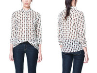 Wholesale Cheap Skull Clothing Women - Wholesale-New fashion women blouse skull printed leisure shirt blouse for women cheap clothes china FREE SHIPPING