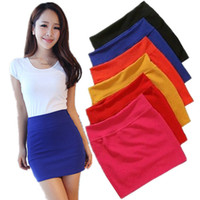 Wholesale Basic Short Skirt Bust - Wholesale-Autumn and winter candy color elastic a basic slim hip skirt bust skirt short skirt female autumn and winter bag skirt step