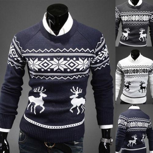 vintage christmas sweaters coupons wholesale mens vintage novelty jumper print sweater christmas rudolph winter - Vintage Christmas Sweater