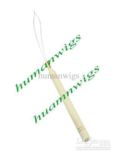 100 stks Bamboe / Houten Handvat Draad / Micro Ringen / Loop Hair Extension Tools!