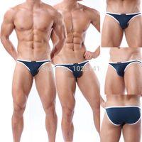 Wholesale Mens Bathing Shorts - Wholesale-New Brand swimsuits Swim Shorts Beachwear Suits bathing Trunks surf Mens Sexy Sports Bikini swimming gay swimwear briefs