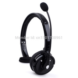 Boom de mic online-Al por mayor-inalámbrico Bluetooth manos libres Boom Mic Headset Auriculares en la cabeza para camionero