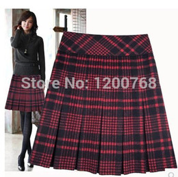 Plus Size Plaid Pleated Skirt Suppliers | Best Plus Size Plaid ...