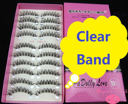 Wholesale Clear Eyelash Band - Wholesale-false eyelashes invisible clear band, 6 models, high quality