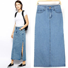 Long Straight Denim Skirts Suppliers | Best Long Straight Denim ...