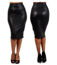 Plus Size Faux Leather Pencil Skirt Online | Plus Size Faux ...