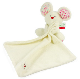 Wholesale Cloth Mouse - Wholesale- Candice guo! newest arrival cute ELC mouse doll baby toy rattle soft placate towel 1pc