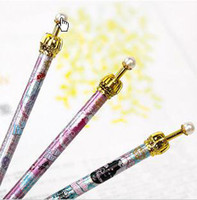 Wholesale Crown Pearl Pen - crown pearl Ball Pen Auto Pen Ball Point Pen Lots 100