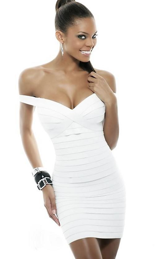 Off The Shoulder Mini White Cocktail Dress Sexy Party Dress Luxury ...