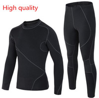 Wholesale Thermal Underwear Set Free Shipping - Wholesale-Free shipping years outdoor sports thermal underwear sets men's autumn and winter thermal underwear, functional underwear