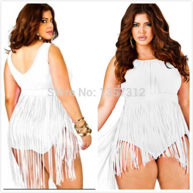 6148d4fa78603 2019 Wholesale 2015 Plus Size Fringe Swimsuit Women Vintage Tassel One  Piece Swimwear Hot Fashion Sexy Women Bodysuit Dresses Swimming Costume  From ...