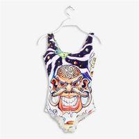 Wholesale Avril Lavigne - Wholesale-Avril lavigne New Arrival 2015 Bathing Suit Print Swimsuit One Piece Swimwear Women Piece Swimsuit YQ1172