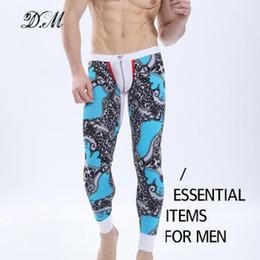 Wholesale cotton long johns men resale online - Bohemian Floral Print Comfortable Modal Cotton Long Johns Underwear Men Fashion Sexy Low waist Male Warm Tights Leggings