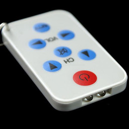 Wholesale Universal Remote Keychain - Mini Universal AV TV Remote Controller Keychain Keyring Back and white color