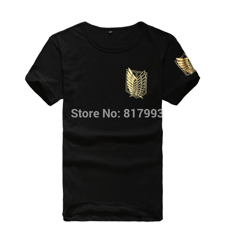547ff8f6670 Wholesale-Brand new Attack On Titan t shirt men colthing 9 styles Scouting  Legion men s t-shirt anime cosplay costume ...