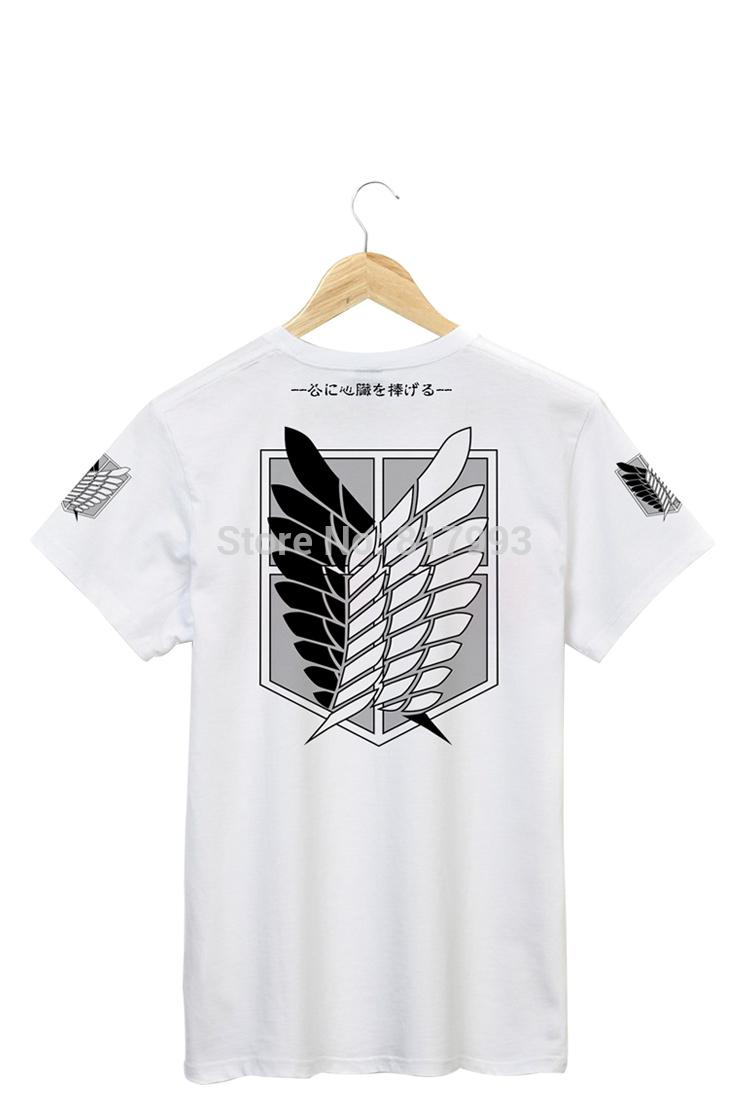 a8b3bb79c4e Wholesale-Brand new Attack On Titan t shirt men colthing 9 styles ...