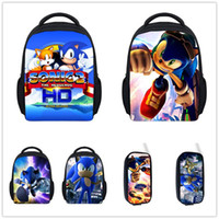 PP orange sonic - Fashion Children Cartoon Small Backpack Boys Bagpack Sonic the Hedgehog Bag Kindergarten Baby Backpack Sonic Backpack Mochila
