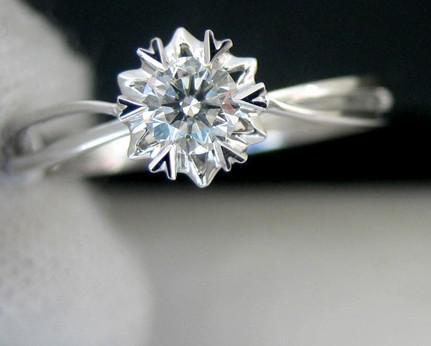 2019 18k White Gold Diamond Ring Snowflake From Shelton68