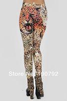 Wholesale Sexy Jeans Leopard - Wholesale-New 2015 Rock Style Women Fashion Sexy Tattoo Jeans Look Leopard Lace Sport Legging Womens Leggins Pants