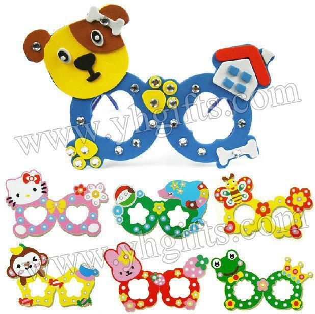 Wholesale diy cartoon diamond kids glasses craft kits for Craft kits for kids in bulk