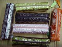 ingrosso matite nappe di seta-Sacchetti della matita impermeabile della nappa variopinta dei tessuti di seta della borsa delle borse della matita a buon mercato 10pcs mescolano liberamente