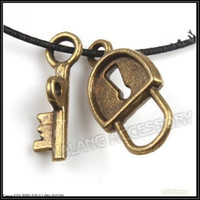 Alliage de bronze gros-150x de Nice Lockkey Fermoir Dangle Pendant Antique Pendentif Plaqué Fit Jewelry Making 160417
