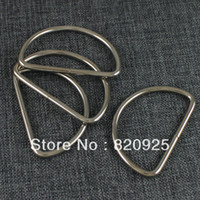 "Wholesale Welded D Ring Wholesale - Wholesale-10 X D Ring 2"" Metal Dee Ring Non Welded Nickel Plated for Purse Bag Craft"