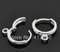 Wholesale Lever Back Wires - Wholesale-DIY Charms 10mm Rhodium Plated Hook Earrings Clip Lever Back Ear Wires Jewelry Finding 200pcs lot