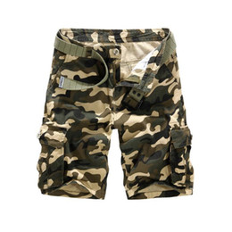 Wholesale Military Mans Shorts - Wholesale-New arrivals free shipping slin fit men casual shorts cotton military camouflage cargo shorts with out belt