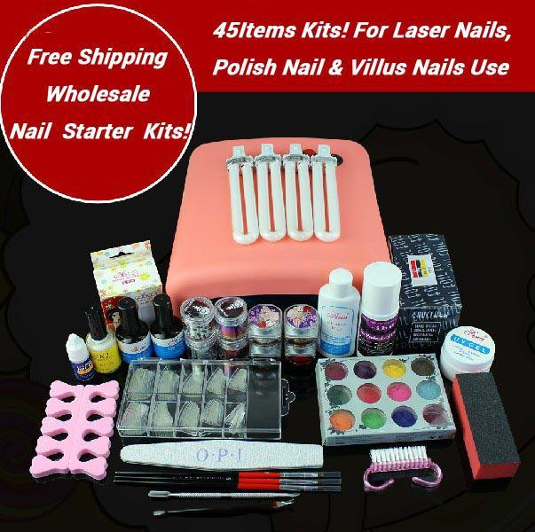 Wholesale-Nail Art Starter Kit for DIY Polish Nails, Villus Nails ...