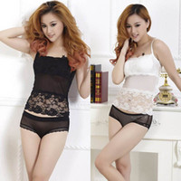 Sexy gros-Padded Enveloppé Tube Chest Floral Lace Tank Top Camisole 2 Couleur Women 's