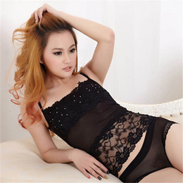 Wholesale Diamond Bandeau - Wholesale-Best Price Sexy Women Lace Bandeau Camisole Black White Diamond Tube Top Underwear Lingerie SHM4