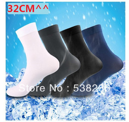 Long over knee socks online shopping - sock long pairs Men stockings ultra thin bamboo fibre socks colors black white blue gray