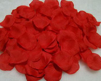 ingrosso petali di rosa rossa artificiali-1kg / lot Petali di rosa rossa di nozze / petali di rosa artificiali / favori di nozze, decorazione di nozze