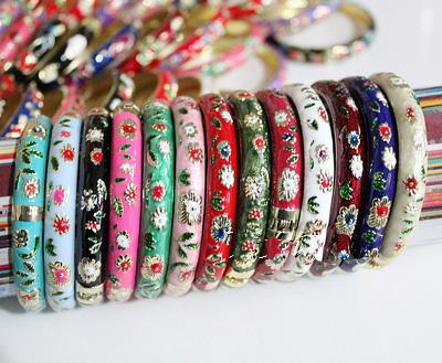 Thin Cloisonne Brazalete Pulsera única China barato coloreada color de la mezcla de venta 100pcs / lot Free