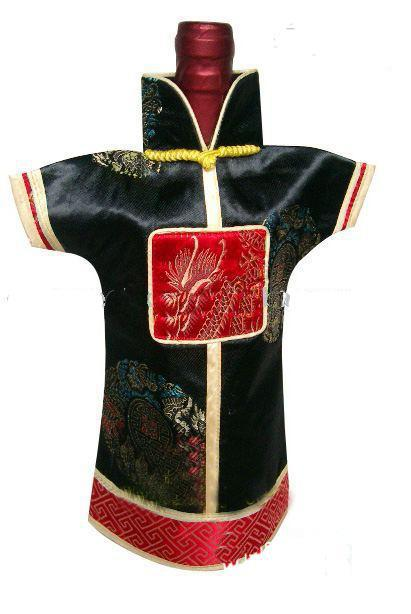 Neuheit chinesischer stil urlaub wein flasche kleidung deckt tisch abendessen dekoration seide brokade verpackung taschen / mix stil und colo